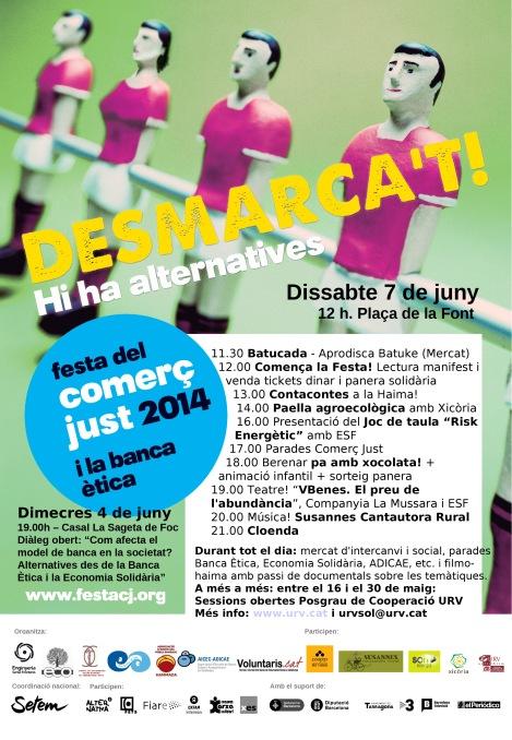 Programa Festa Comerç Just i Banca Ètica a Sitges