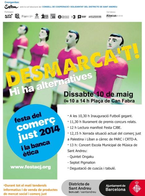 Programa de la Festa CJBE a Sant Andreu