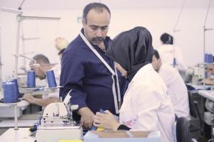 Fotografia de la Campanya Roba Neta realitzada a una fàbrica tèxtil a Tànger. (Carlos Castro / Fora de Quadre)