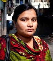 Shila Begum, supervivent de la tragèdia de Rana Plaza (Font: Campanya Roba Neta)