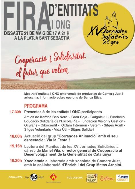 Cartell XV Jornades Solidàries-FIRA